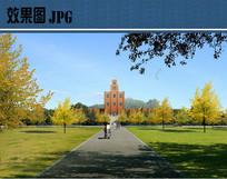 校园景观设计效果 JPG