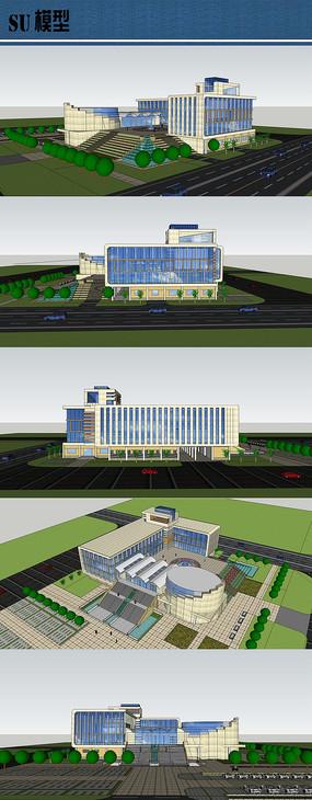 校园图书馆模型