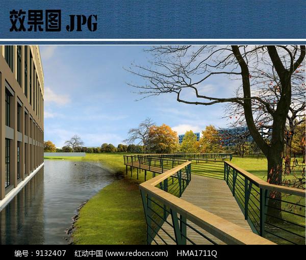校园休闲空间效果图图片