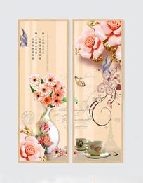 新中式花鸟装饰画工笔无框画