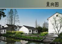中式小镇绿化