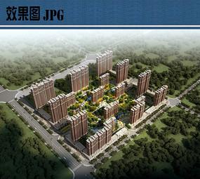住宅区景观设计鸟瞰图JPG