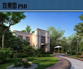 住宅区绿化效果图PSD