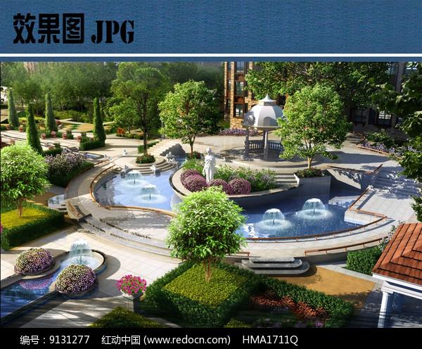住宅区入口景观效果图JPG图片