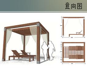 游泳池边休息亭设计
