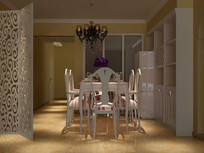 3D欧式餐厅模型与效果图