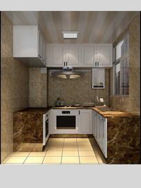 3D欧式厨房模型与效果图