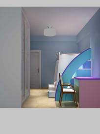 3D欧式儿童房模型与效果图