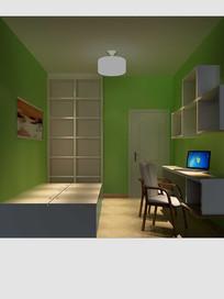 3D欧式书房模型与效果图