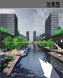 CBD核心景区设计效果图