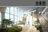 办公建筑室景观效果图