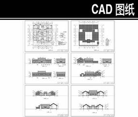 单层北京经典四合院CAD图