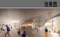 地下艺术馆建筑内部效果图