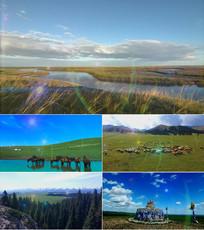 父亲的草原母亲的河背景视频