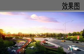 高速入口展示区效果图