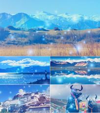 歌曲青藏高原舞台背景视频