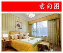黄绿色卧室