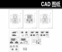 灰色中式四合院施工图