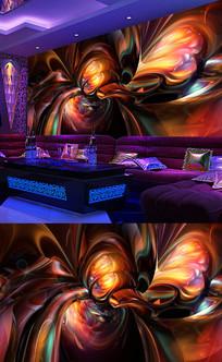 酒吧背景墙壁画
