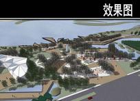 某河生态走廊文化公园效果图
