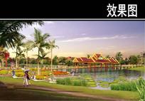 某景区修建性规划花卉园效果