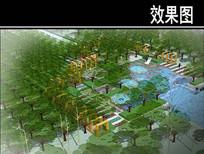 三里河市区段景观饮水广场鸟瞰