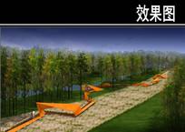 三里河市区段折纸廊道效果图 JPG