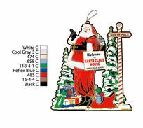 圣诞老人吊牌
