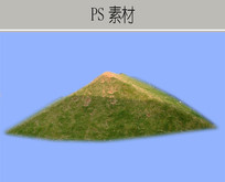 生态草坡形态PS素材 PSD