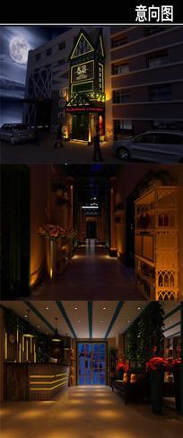 沈阳香宿特色主题宾馆意向图