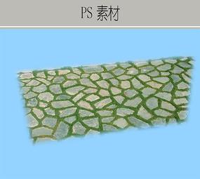 石块嵌草铺地PS素材