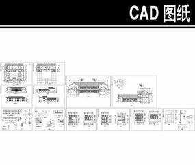 四合院式办公室CAD建筑图