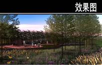渭河景观堤岸防护区效果图二