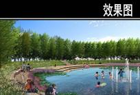 渭河景观规划湿地亲水活动效果