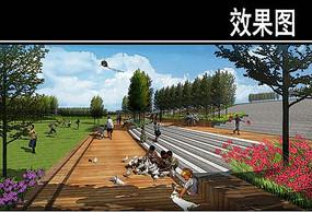 渭河景观市民活力段效果图 JPG