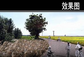 渭河景观田园风光区效果图