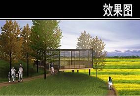 渭河景观田园风光区效果图二