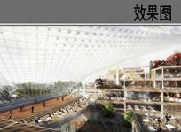 未来建筑室内景观效果