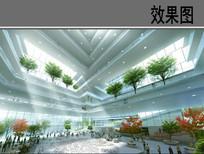 未来建筑室内景观效果图