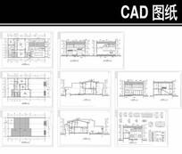 现代式四合院CAD建筑图