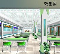 学校食堂室内效果图 JPG