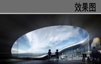 艺术博物馆室内观景效果 JPG