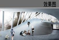 艺术馆建筑内部效果图
