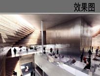 艺术中心室内空间效果图