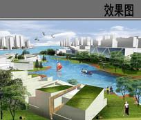 运河公园空间效果图