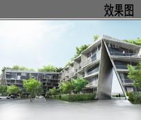 住宅区建筑透视效果图