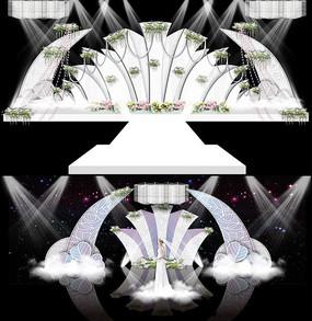 白绿色极简风格小清新主题婚礼
