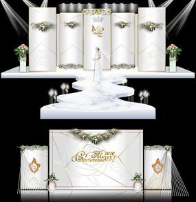白色大理石简约韩式主题婚礼