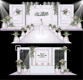白色森系绿色简约韩式婚礼设计