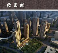 大都市商务中心鸟瞰